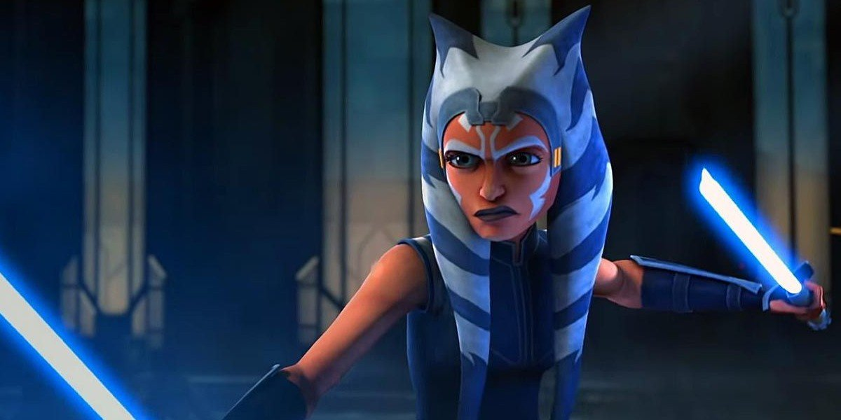 Ahsoka Tano in Star Wars: The Clone Wars.