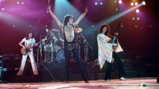 Queen onstage