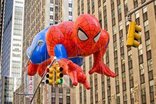 Spiderman float at Macy's parade