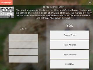 Quizlet screenshot: Team quiz play