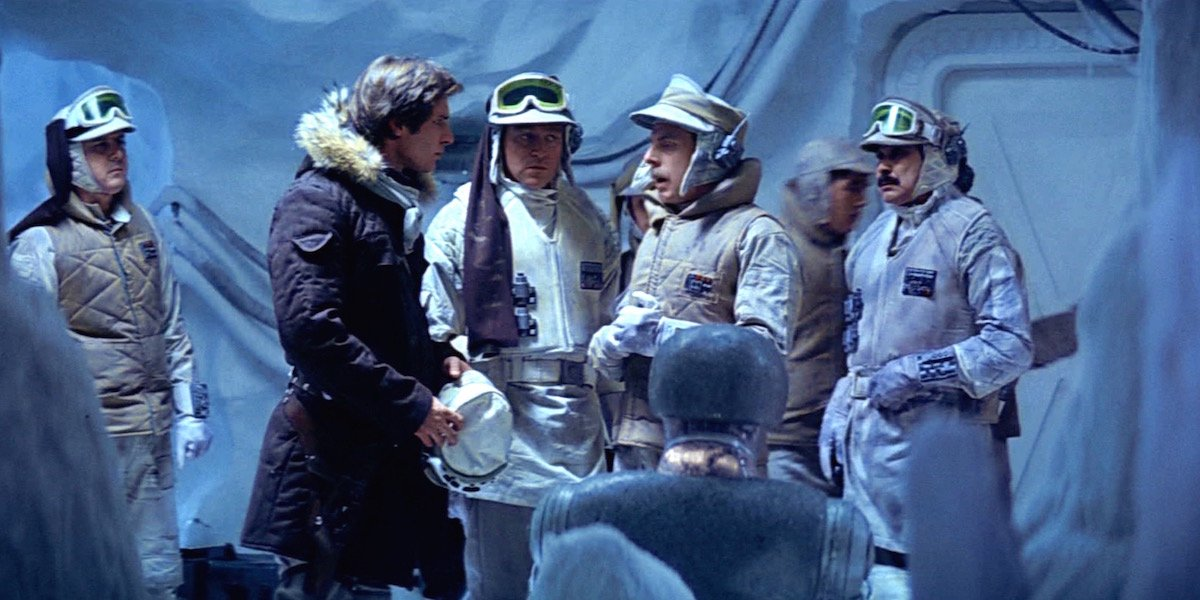 Han Solo and other Rebels on Hoth in The Empire Strikes Back