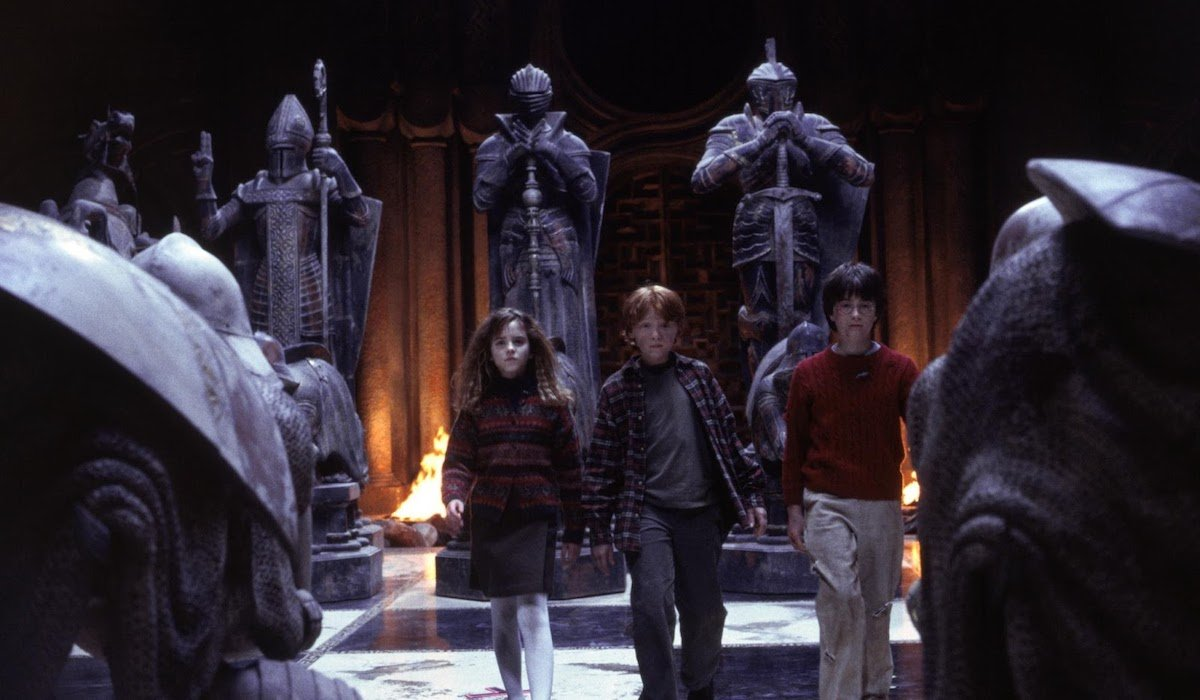 Hermione, Ron and Harry Potter in Sorcerer's Stone, wizard's chess