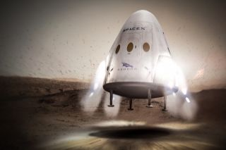 SpaceX Dragon Mars Mission Concept Art