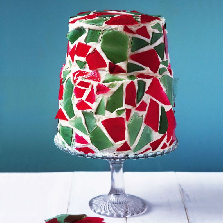 lily vanilli stained glass cake photo