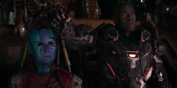 Gamora ad War Machine in Endgame