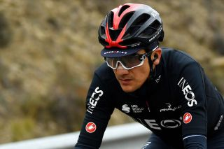 SALLENT DE GLLEGO SPAIN OCTOBER 25 Richard Carapaz of Ecuador and Team INEOS Grenadiers Oakley sunglasses during the 75th Tour of Spain 2020 Stage 6 a 1464km stage from Biescas to Sallent de Gllego Aramn Formigal 1790m lavuelta LaVuelta20 La Vuelta on October 25 2020 in Sallent de Gllego Spain Photo by David RamosGetty Images