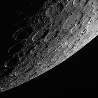 Sunlit side of Mercury