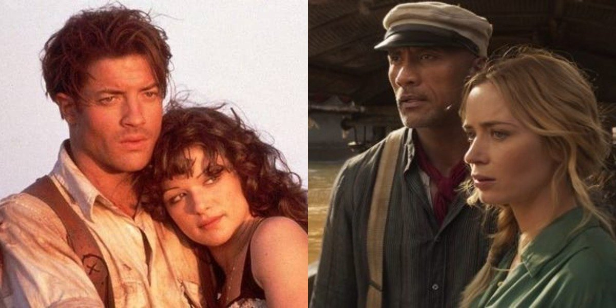 Rick and Evie in The Mummy and Frank and Lily in Jungle Cruise