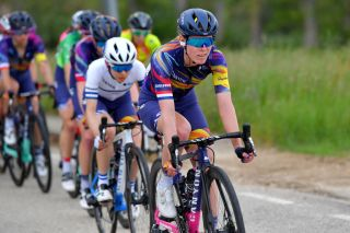 VILLARCAYO SPAIN MAY 21 Hannah Barnes of United Kingdom and Team Canyon SRAM Racing during the 6th Vuelta A Burgos Feminas 2021 Stage 2 a 97km stage from Pedrosa de Valdeporres to Villarcayo VueltaBurgos BurgosFem UCIWWT on May 21 2021 in Villarcayo Spain Photo by Luc ClaessenGetty Images