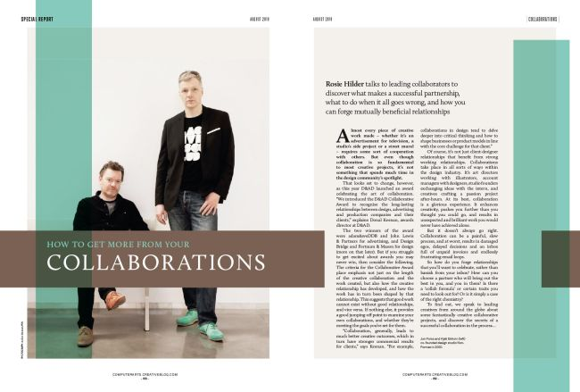 New Talent issue spreads