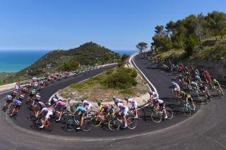 The Giro d'Italia on the Gargano Peninsula in 2017.