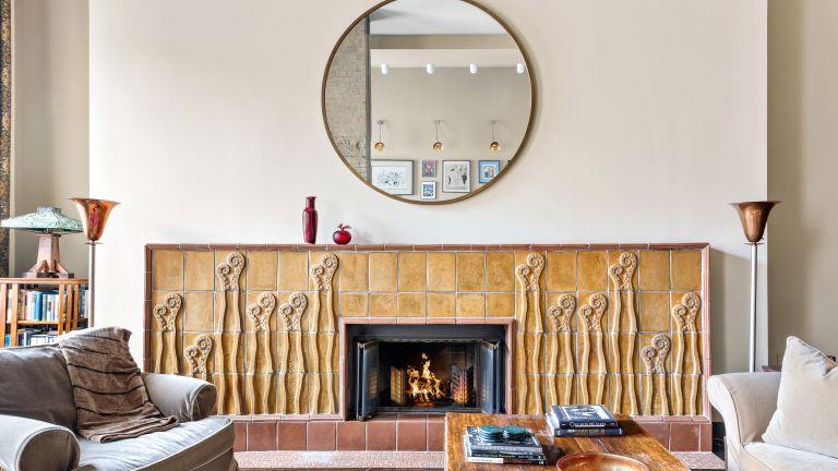 Nathan Lane's apartment living room