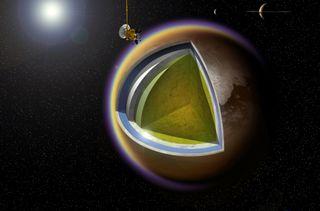 Saturn Moon Titan's Layers: Cassini Mission