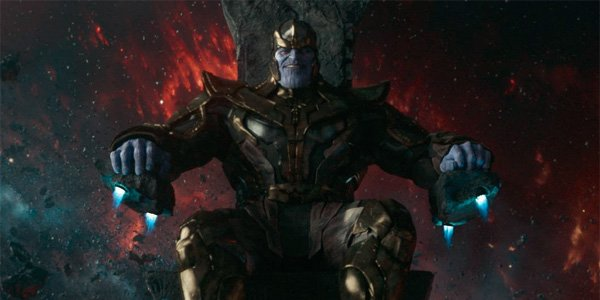 Thanos (Josh Brolin) on space throne