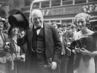 Winston Churchill (shown here at his daughter's wedding in September 1935) wrote an essay on alien life in 1939 when Europe was on the brink of war, shortly before he becam prime minister of the United Kingdom.