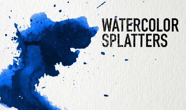 Photoshop brushes: Watercolour splatters
