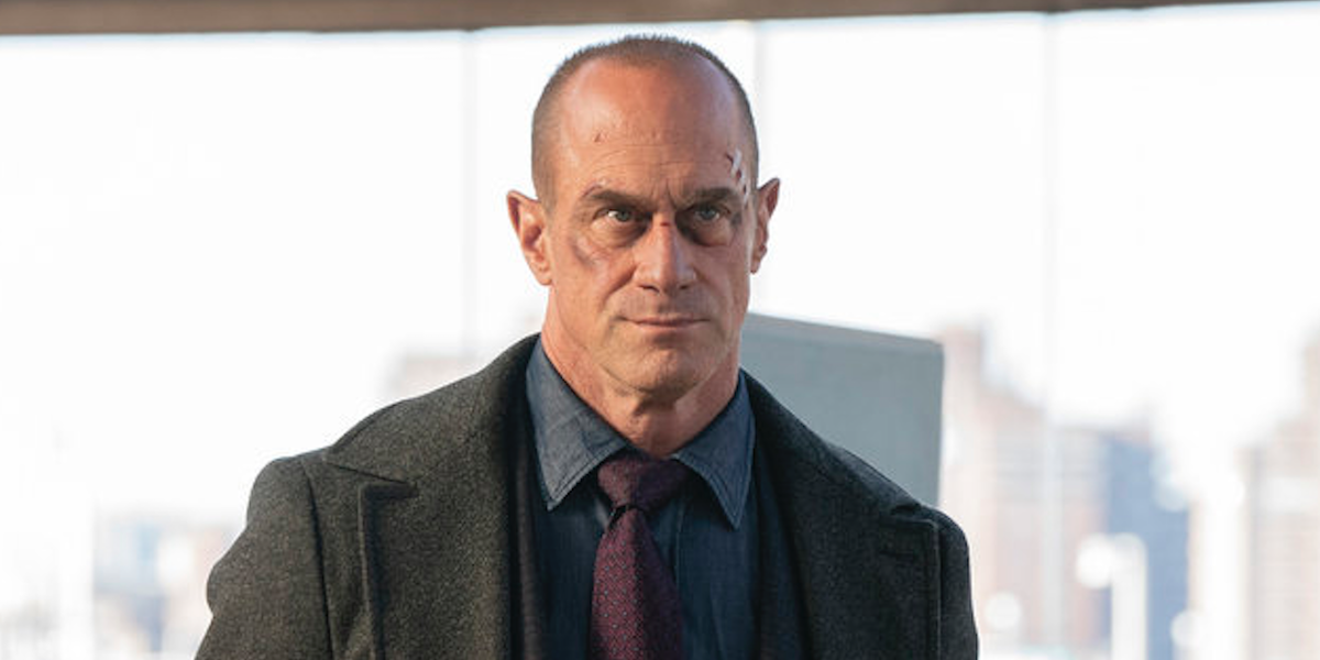 christopher meloni's elliot stabler with cut face on law and order: organized crime