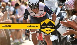 Australian climber Richie Porte (Trek-Segafredo) time trials to third place overall on stage 20 of the 2020 Tour de France