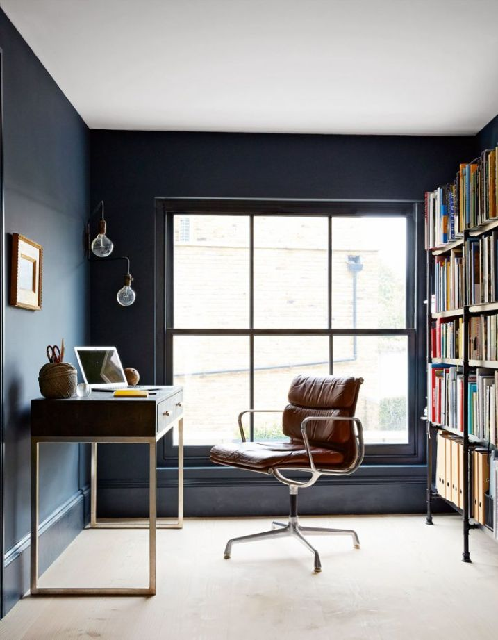 Industrial Study Room: Chic And Striking Home Office Ideas For A Stylish Study