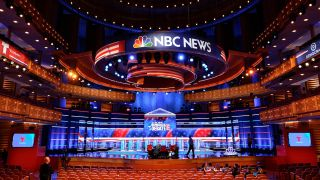 Experiential firm Clickspring Design created an LED-packed studio stage for the first debate of the 2020 Presidential campaign cycle, which was broadcast across NBC, Telemundo, and MSNBC.