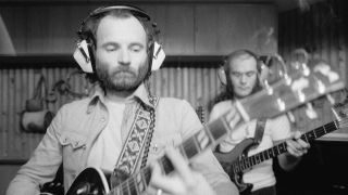 Michael Chapman in the studio in 1978