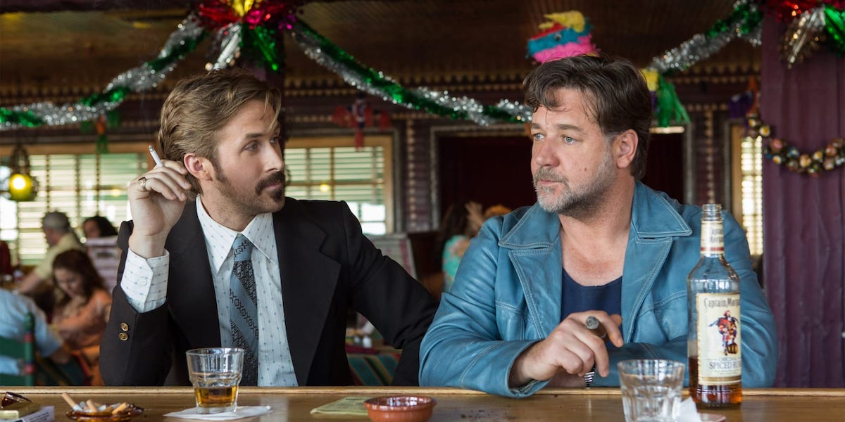 Ryan Gosling and Russell Crowe in Shane Black's The Nice Guys