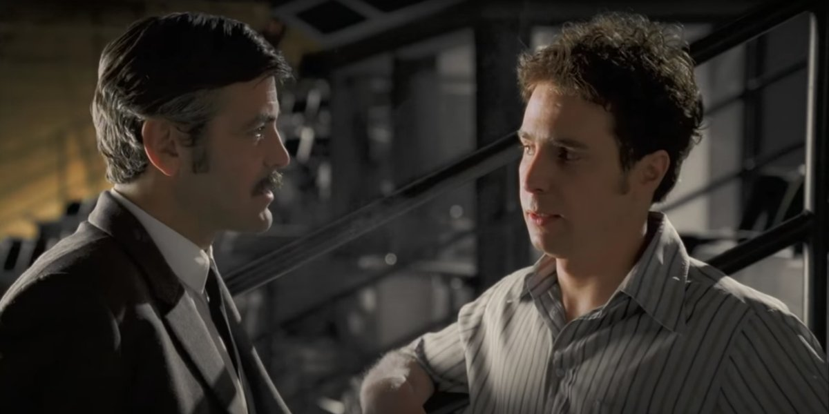 George Cloney and Sam Rockwell in Confessions Of A Dangerous Mind
