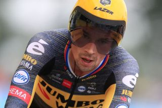 Primoz Roglic (Jumbob-Visma) in the stage 5 time trial at the Tour de France