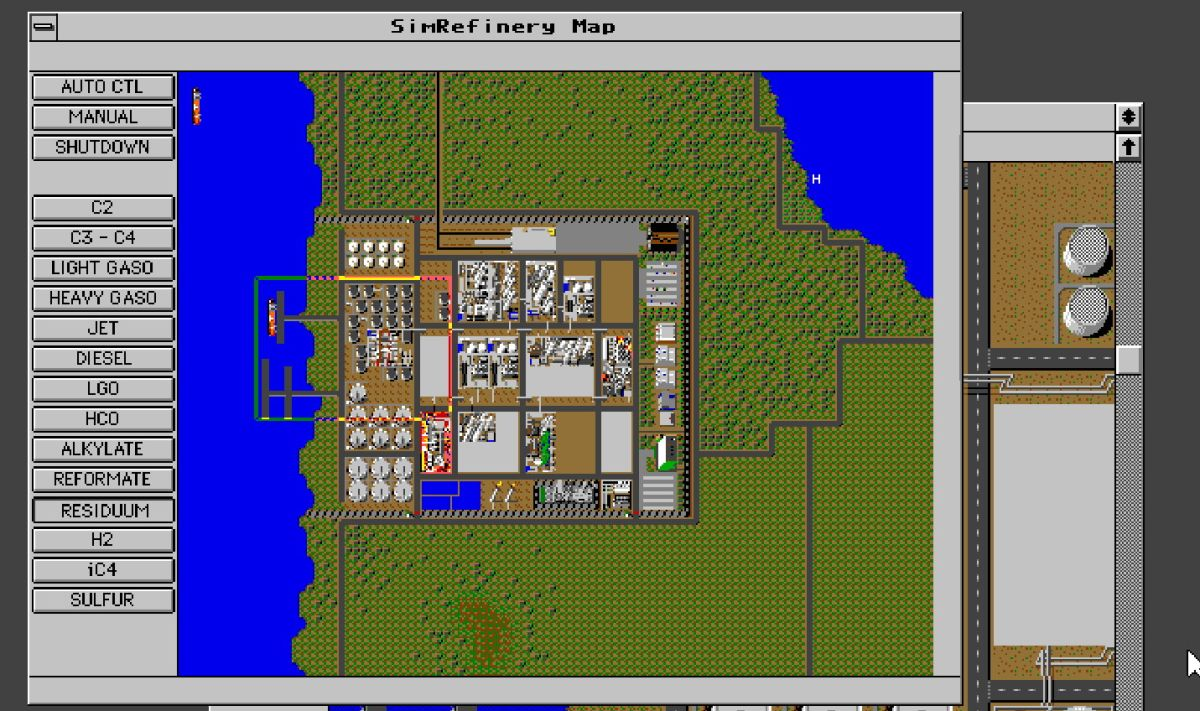 Long-lost Maxis game SimRefinery is now available to everyone