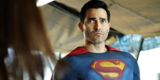 Superman under a tent The CW