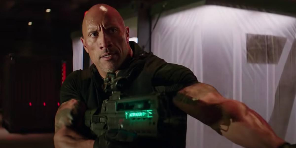 """Dwayne """"The Rock"""" Johnson in Hobbs And Shaw"""