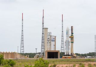Ariane 5 Rocket Moves to the Pad