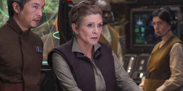 Star Wars: The Force Awakens General Leia in the war room