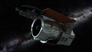 An artist's depiction of NASA's Wide Field Infrared Survey Telescope.