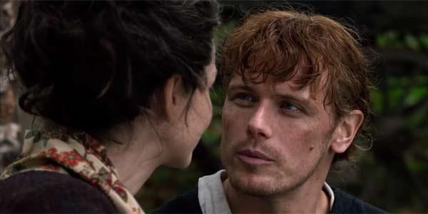 Sam Heughan playing Jamie Fraser in Outlander Season 4