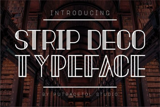 Cool fonts: Strip Deco