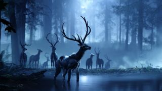 Project Scarlett graphics example of stags by a lake