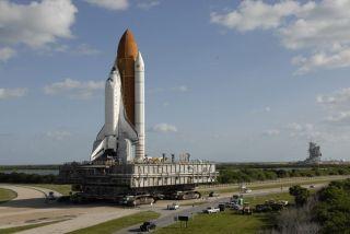 Space Shuttle Atlantis Returns to Storage