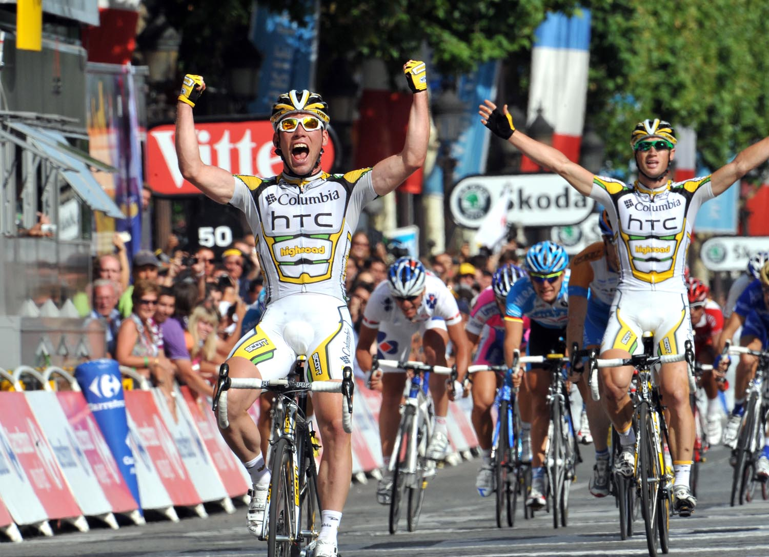 Mark Cavendish wins, Tour de France 2009, stage 21