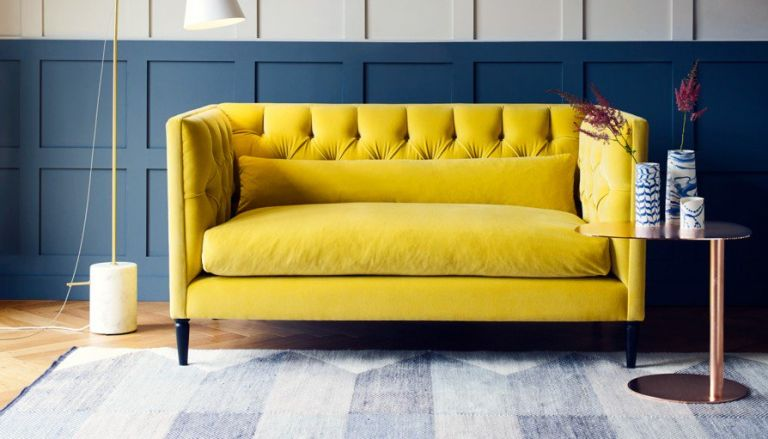 Heal's traditional small sofa