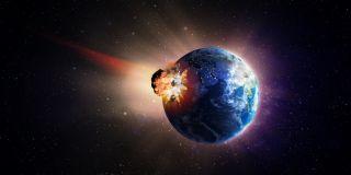 Asteroid hitting Earth