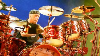 Neil Peart playing
