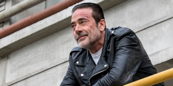 negan smiling in the sanctuary the walking dead