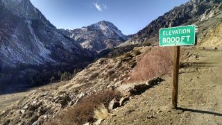 Nearly Snowless Tioga Pass