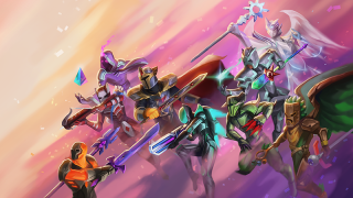 Terraria anniversary artwork group of fighters