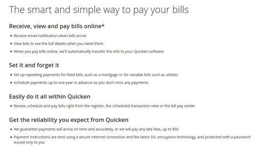 Quicken Bill Pay Review - Pros, Cons and Verdict | Top Ten