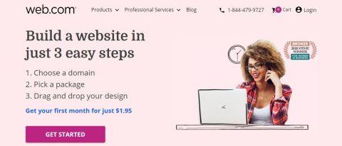 Web.com Website Builder Hero