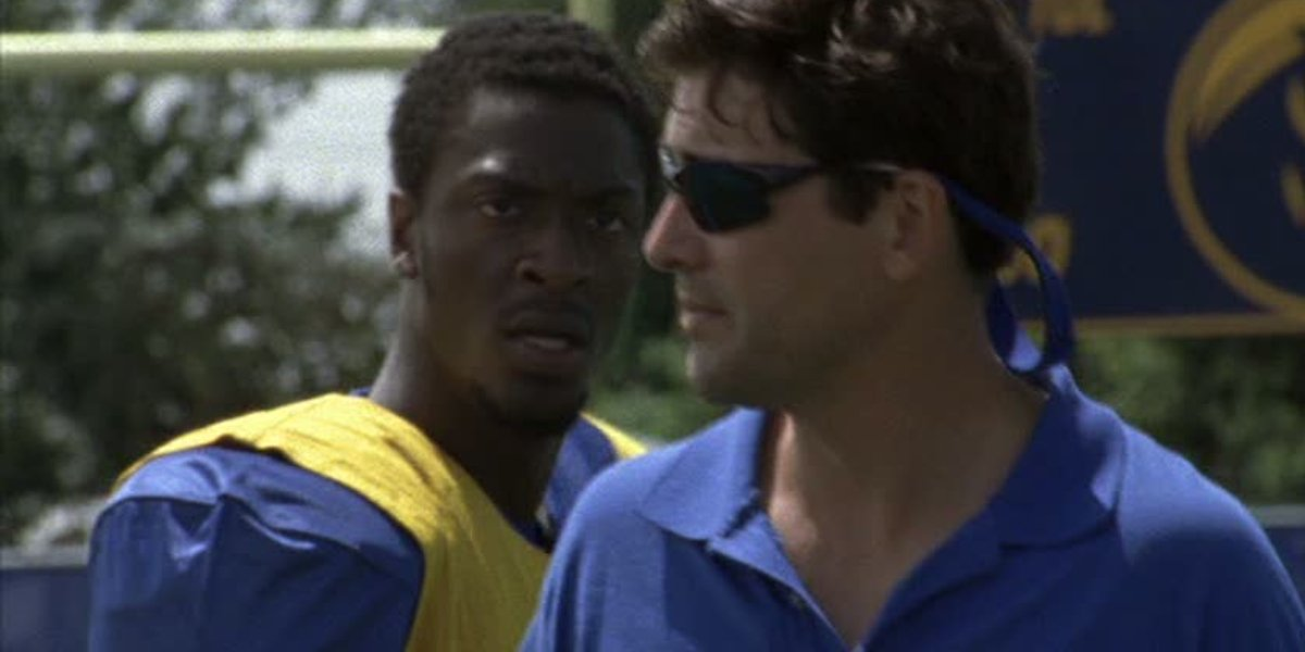 Aldis Hodge and Kyle Chandler on Friday Night Lights