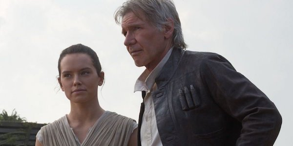 Rey and Han in The Force Awakens