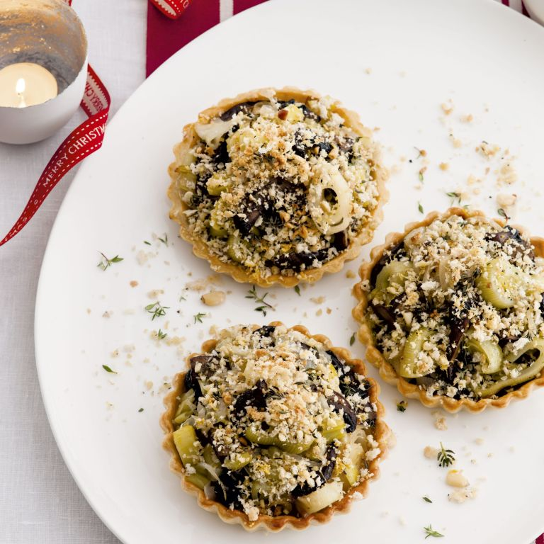 Photo of Mushroom leek and crumb topped tartlets